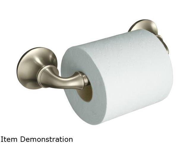 KOHLER K-11374-BN Forte Sculpted Toilet Tissue Holder