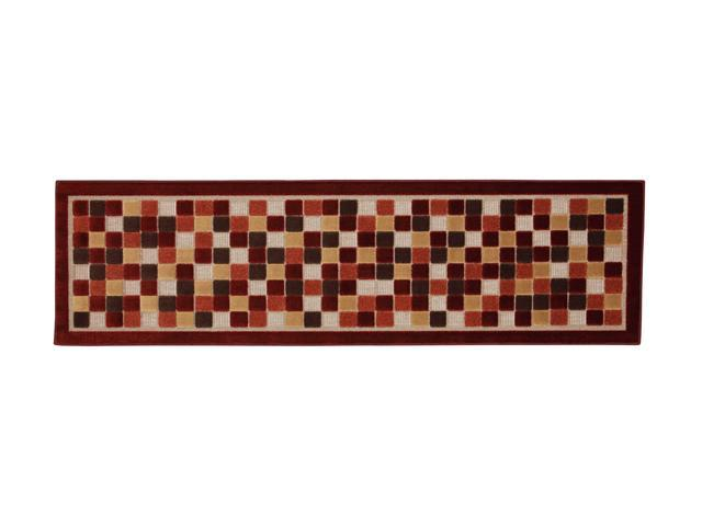 Mohawk Home Terrace Terrace Squares Rug Brown 90