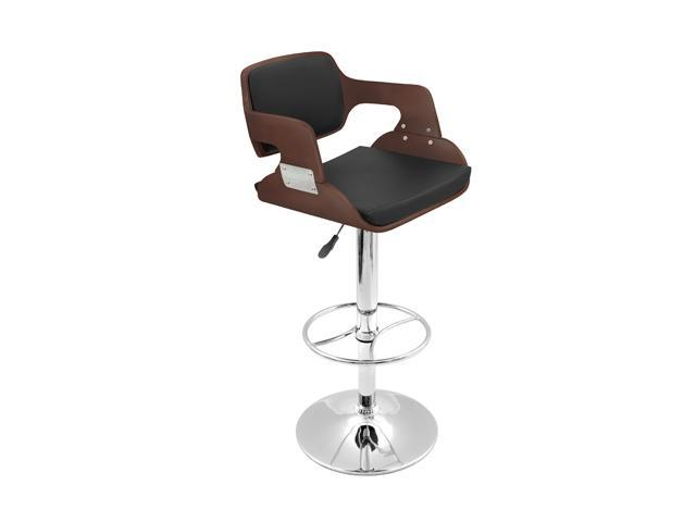 LumiSource Fiore Bar Stool Cherry BS-JY-FR CH+BK