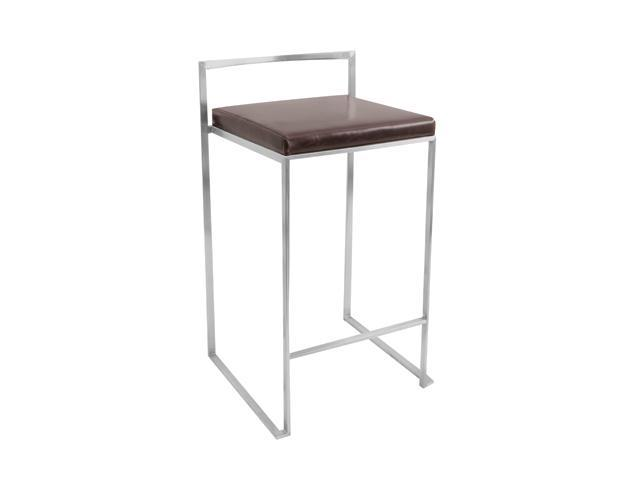 LumiSource Brown Fuji Counter Stool