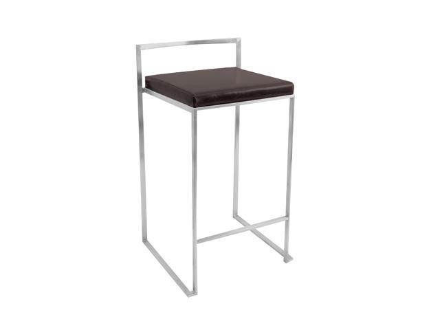 LumiSource Wenge Fuji Counter Stool