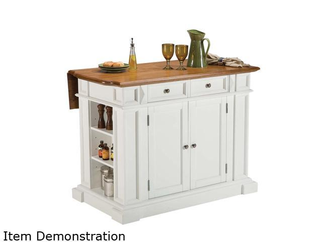 Home Styles 5002-94 Kitchen Island White & Distressed Oak Finish