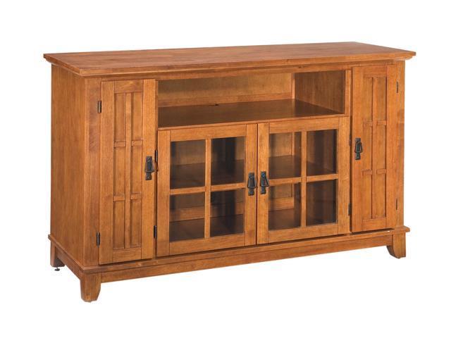 Home Styles Arts & Crafts 5180-10 Mission TV Credenza Cottage Oak Finish