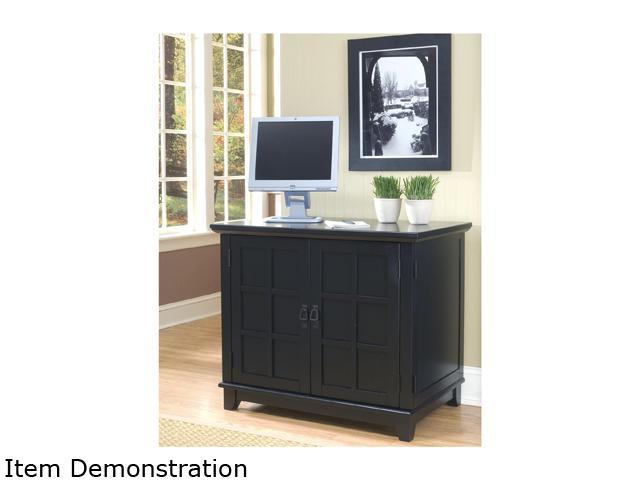 Home Styles 5181-19 Arts & Crafts Compact Desk Black Finish