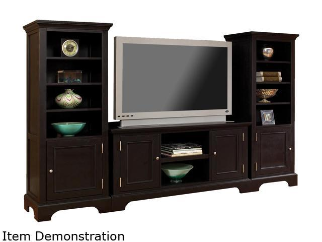 Home Styles Bedford 5531-34 Transitional Black 3PC Entertainment Center