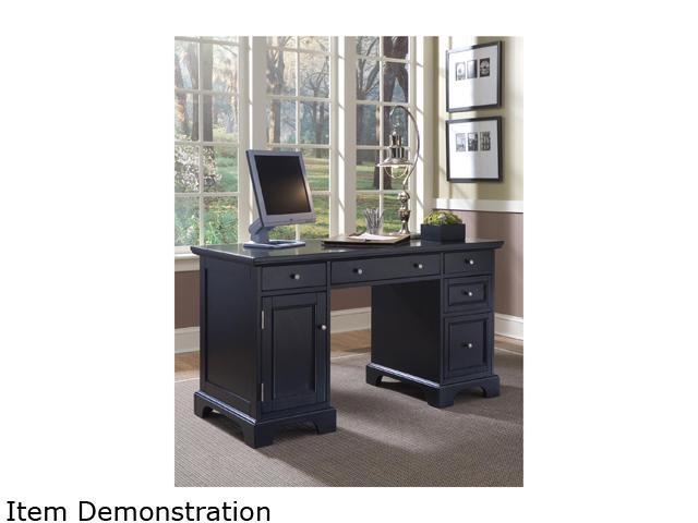 Home Styles 5531-18 Bedford Black Pedestal Desk