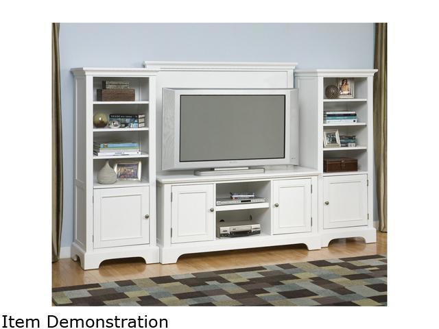 Home Styles Naples 5530-44 White 4PC Entertainment Center