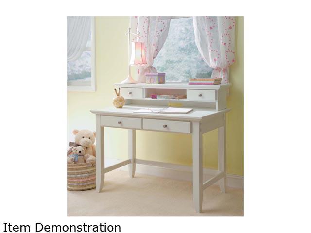 Home Styles 5530-162 Naples White Student Desk & Hutch