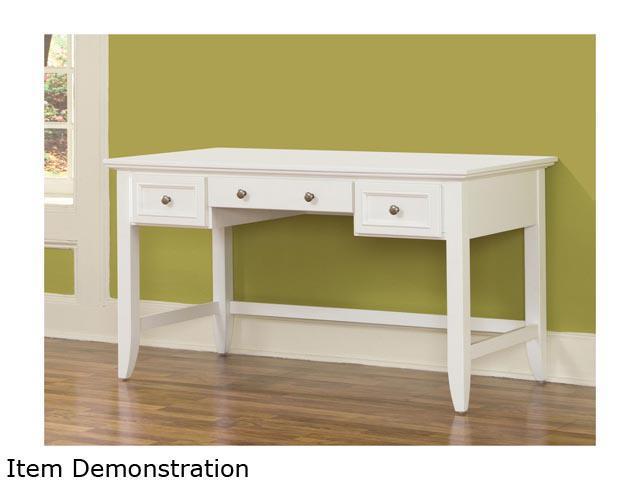 Home Styles 5530-15 Naples White Executive Desk