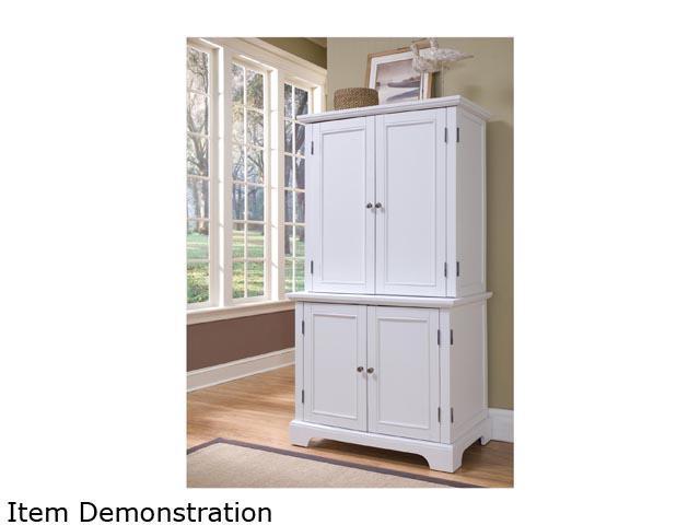 home styles naples white compact computer desk u0026 hutch