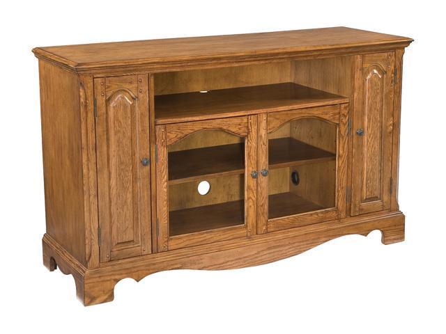 Home Styles Country Casual 5538-10 Transitional Distressed Oak TV Credenza