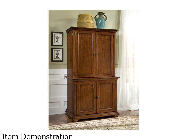 Home Styles 5527-190 Homestead Distressed Warm Oak Desk & Hutch