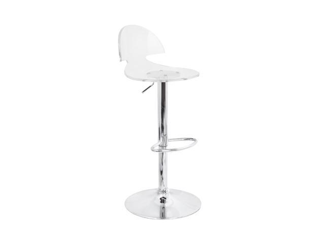 LumiSource Venti Acrylic Bar Stool Clear