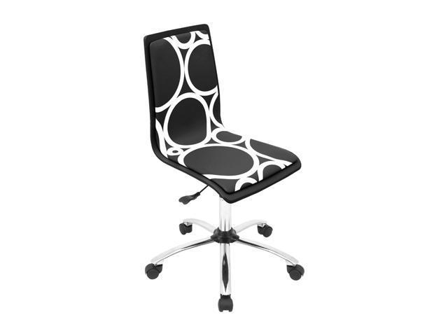 LumiSource Printed Black Circles Computer Chair