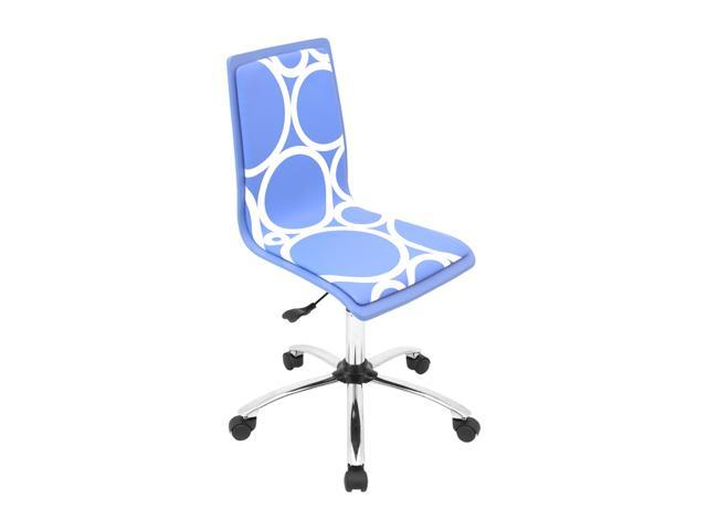 LumiSource Printed Blue Circles Computer Chair