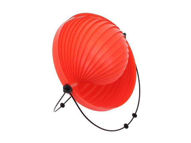 LumiSource Shell Table Lamp Red