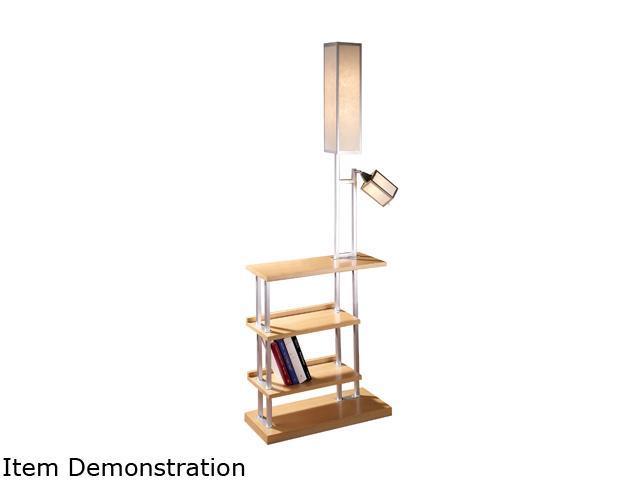 LumiSource Ravenswood Floor Lamp Wood
