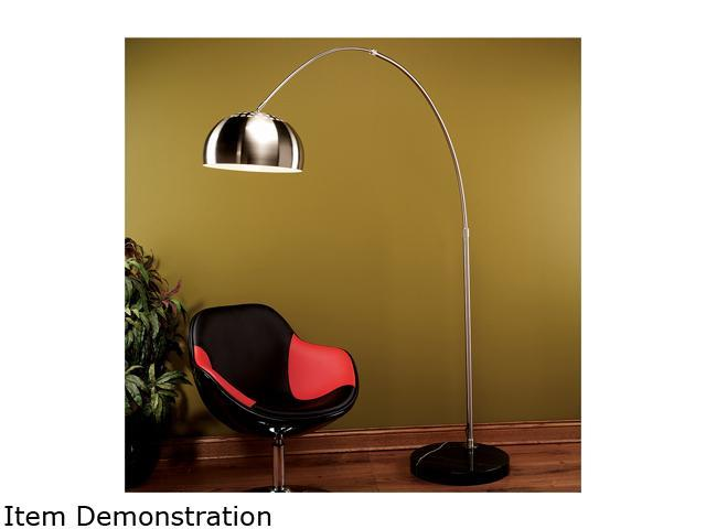 LumiSource Arch Lamp Brushed Chrome / Black Marble