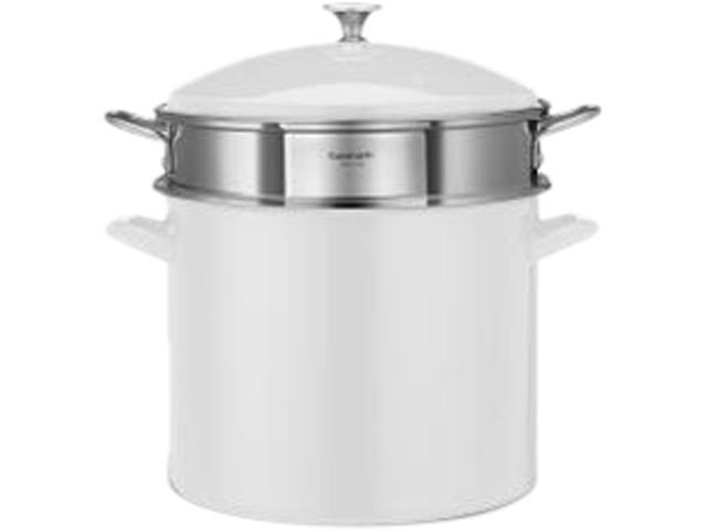 Cuisinart 3-Piece 12-Quart Stockpot/Steaming Set, White
