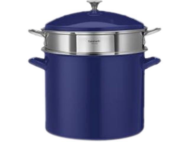 Cuisinart 3-Piece 20-Quart Stockpot/Steaming Set, Cobalt Blue