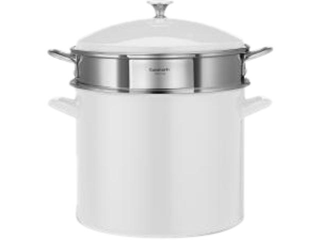 Cuisinart 3-Piece, 20-Quart Stockpot/Steaming Set, White