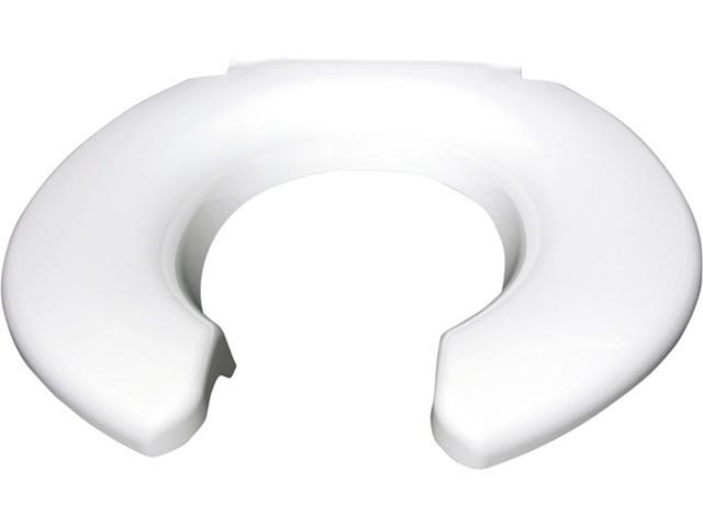 Big John 2445263-4W Toilet Seats Open Front Toilet Seat Less Cover in White