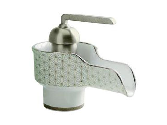 KOHLER K-11000-VT-0 Euro Modern Silkweave Design on Bol Single-control Lavatory Faucet White
