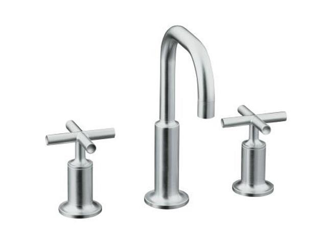 KOHLER K-14406-3-CP Euro Modern Purist Widespread Lavatory Faucet