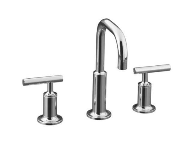 KOHLER K-14406-4-CP Euro Modern Purist Widespread Lavatory Faucet