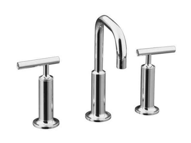 KOHLER K-14407-4-CP Euro Modern Purist Widespread Lavatory Faucet