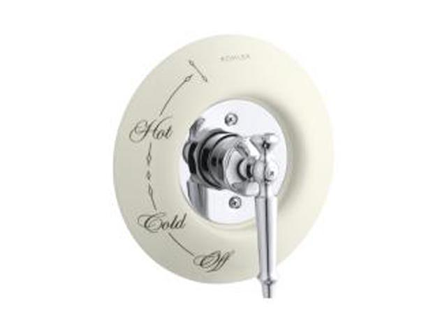 KOHLER K-146-96 Ceramic Dial Plate (Photo shows dial plate with IV Georges Brass lever handle.)