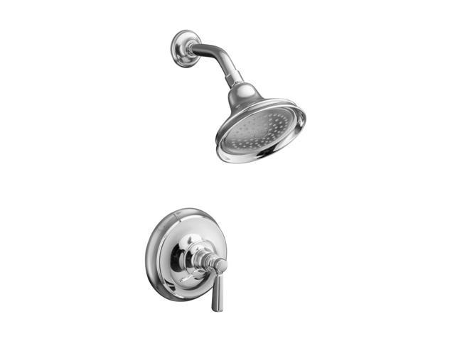 KOHLER K-T10583-4-CP Bancroft Rite-Temp Pressure-balancing Shower Faucet Trim with Metal Lever Handle