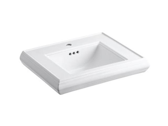 Kohler K-2239-1-0 Memoirs Pedestal Lavatory Basin with Single-hole Faucet Drilling