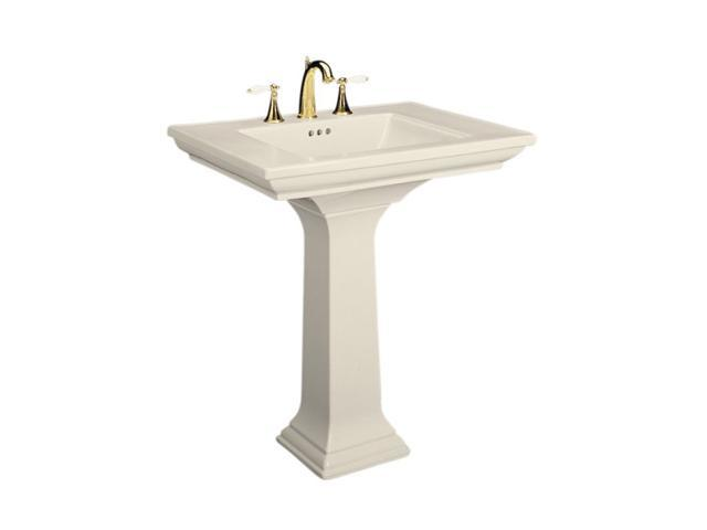"""Kohler K-2268-8-47 Memoirs Pedestal Lavatory with 8"""" Centers and Stately Design"""