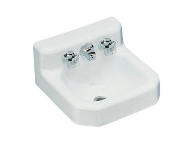 Kohler K-2753-0 Trailer Wall-mount Lavatory with Factory-installed Triton Faucet