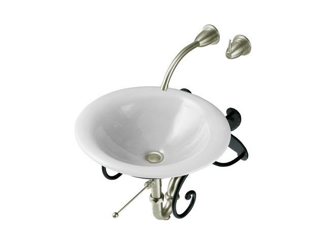 Kohler K-2804-P5-0 Iron Bell Vessels Above-counter or Wall-mount Lavatory with Glazed Underside