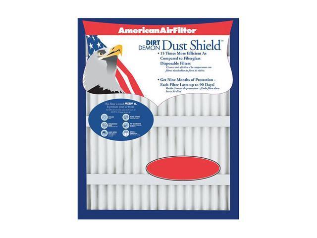 "American Air Filter 222-863-051 24"" X 24"" X 1"" Dust Shield Air Filter (12 Pack)"