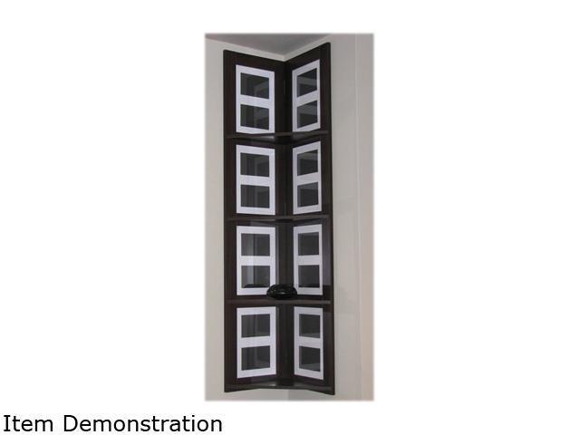 4D Concepts 94810 Hanging Corner Picture Shelf 4 Tier Decorative Shelving