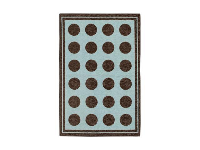 "Mohawk Home Woodgrain Fluffy Blue Rug Light Blue 60"" x 84"" 11205 439 060084"
