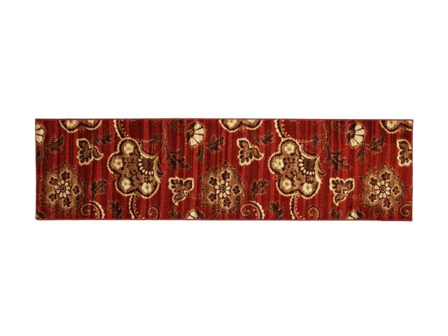"Mohawk Home Canvas Waterford Red Rug Red 24"" x 96"" 11207 400 024096"