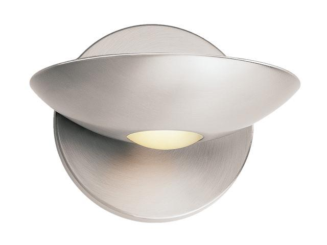 Access Lighting Helius Wall Fixture- 1 Light Brushed Steel Finish w/ Frosted Glass