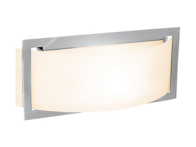 Access Lighting Argon Wall Fixture- 1 Light Brushed Steel Finish w/ Opal Glass