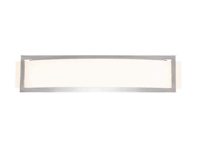 Access Lighting Argon Wall Fixture- 2 Light Brushed Steel Finish w/ Opal Glass