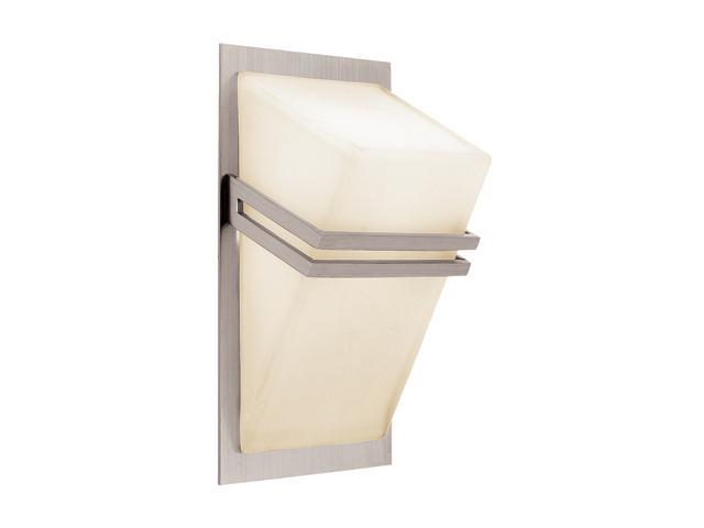 Access Lighting Titan Wall & Vanity- 1 Light Brushed Steel Finish w/ Opal Glass