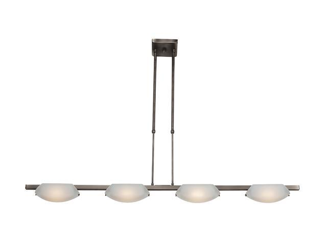 Access Lighting Nido Semi- 4 Light Oil Rubbed Bronze Finish w/ Frosted Glass Oil-rubbed bronze Semi Flush