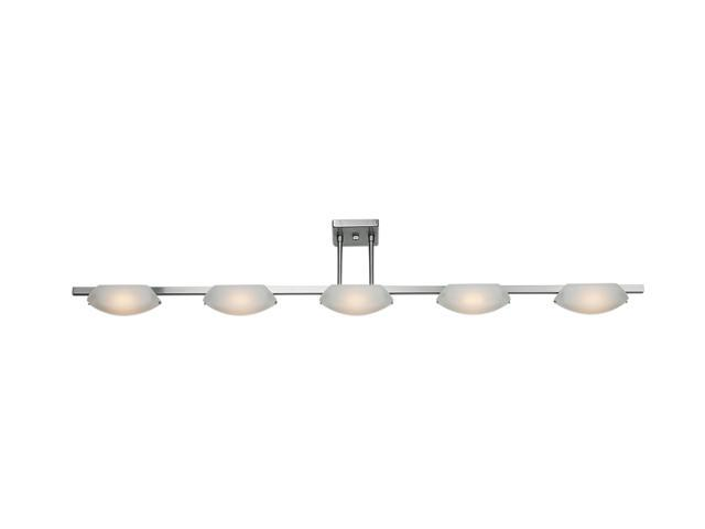 Access Lighting Nido Semi- 5 Light Matte Chrome Finish w/ Frosted Glass Matte Chrome Semi Flush