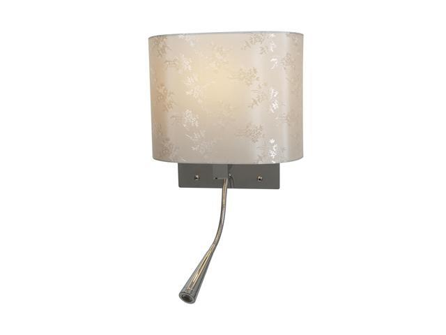 Access Lighting Epiphanie LED Gooseneck Wall Lamp- 1 Light Chrome Finish w/ Creme Glass