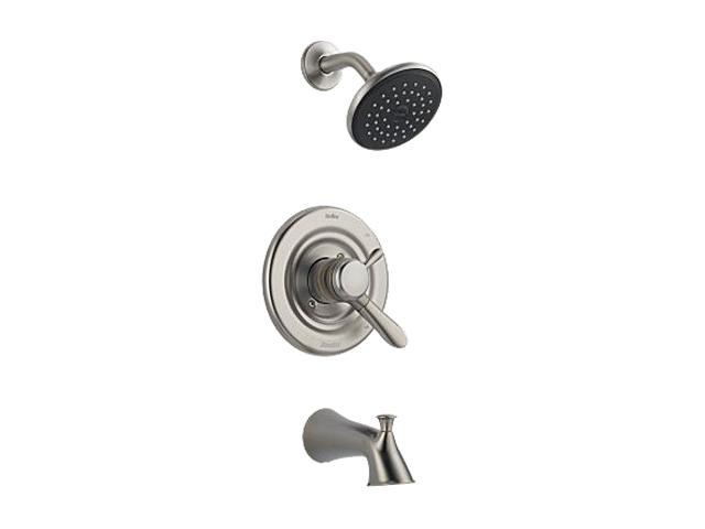 DELTA T17438-SS Lahara Monitor 17 Series Tub Spout and Shower Trim - Stainless
