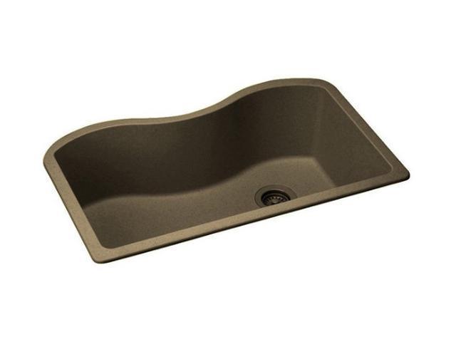 "Elkay ELGUS3322RMC0 Harmony e-granite Undermount Sink, Mocha Finish, 33"" L x 20""W"