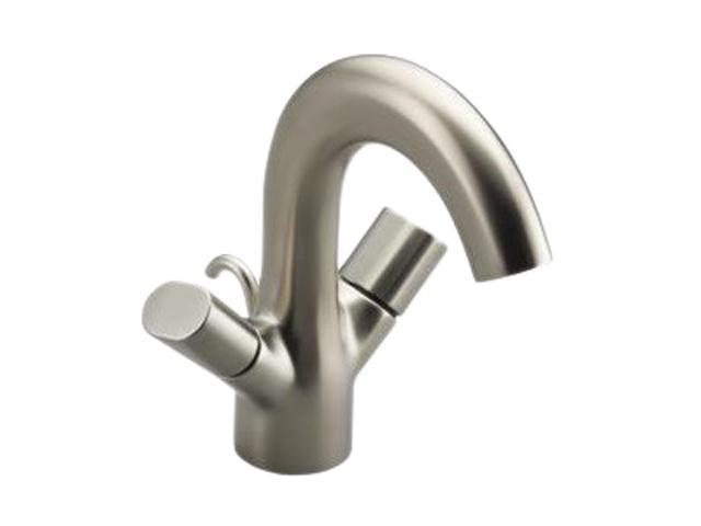 KOHLER K-10085-9-BN Euro Modern Oblo Monoblock Lavatory Faucet Brushed Nickel